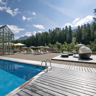 Hotel Schweizerhof Sils | Terrasse